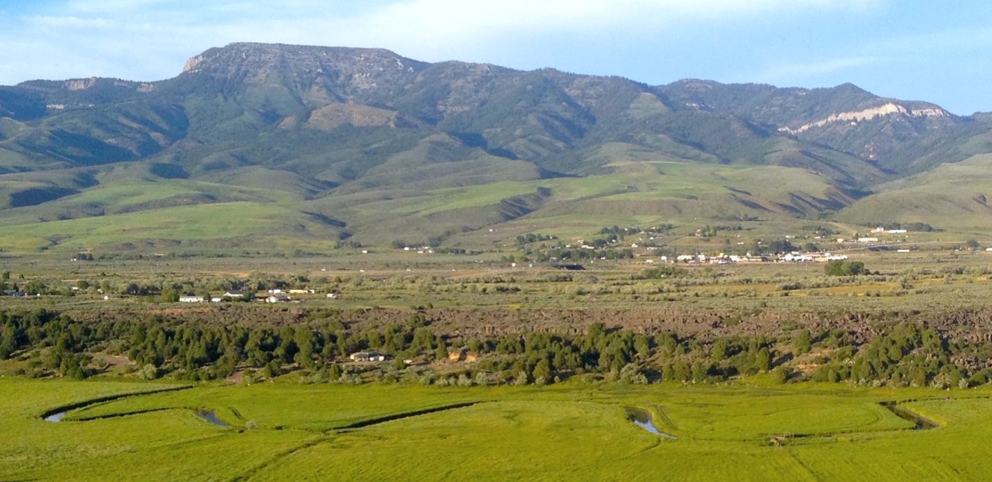 View of Hogsback Mountain and Valley McCammon Idaho